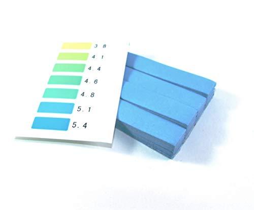 pH-Straifen Lackmus -Test 3.8-5.4 (100St) für Saft, Wein, Bier, Milch, Urin, Speichel, Wasser, Pools, Aquarien, Kombucha - Made in Europe (Ph-bier)