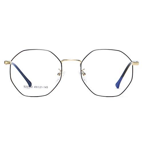 Brillen Strahlung-Beweis Retro Polygon Unregelmäßige literarische Farbwechsel Anti-Blau Männer und Frauen Frame Goggles Frame