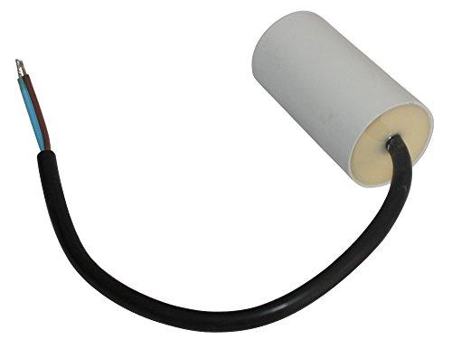 Aerzetix Condensatore di avviamento per motore 6 /µf 450V con cavo 20 cm .