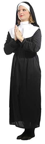 Brandsseller Damen Kostüm Verkleidung Nonne M ()