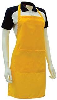 Kitchen Apron Yellow Color Cotton Unisex