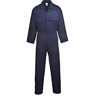 Absab Ltd Portwest Mens Euro Work Welding Boiler Suit Coverall (XXL/T, Navy)