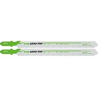 kwb AKKU TOP Stichsäge-Blätter im praktischen Zweier-Set, Holz- und Metall-Sägeblatt aus Bi-Metall, Länge 80/57 mm, Made in Germany