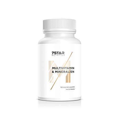 Vitamine & Mineralien | 13 Multivitamine & 14 Mineralstoffe in einer Tablette | für Männer und Frauen geeignet | Hergestellt in Deutschland | 7 Star Nutrition