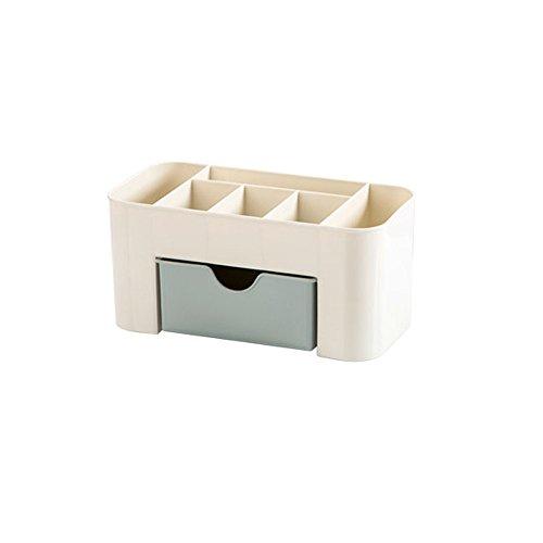 Hukz Kosmetische Aufbewahrungsbox,Platz Sparen Desktop-Kosmetik-Make-up-Schubladen-Typ-Box(Material: PP,Größe: 22 * 10 * 10,3 cm) (Blaues)