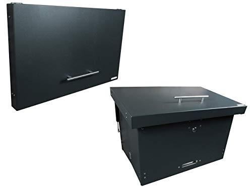 Paketkasten, Paketbox faltbar anthrazit - sicher und dezent - für alle Paketdienste