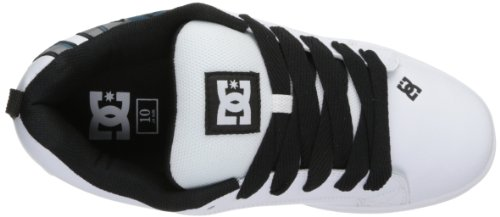 DC Shoes Court Graffik, Chaussures de skate homme Multicolore (White/Black/Blue)