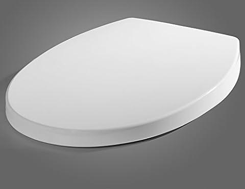 WOLTU 2423 Toilet Seat Bathroom White Round Plastic Toilet Lid