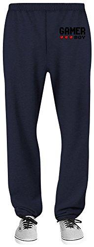 Harma Art Gamer Boy Relaxed Jersey Pants - 70% Baumwolle, 30% Polyester - Hochwertige Sweatpants für Indoor & Outdoor AktivitäTen Medium (Navy Blue Boys Jersey)
