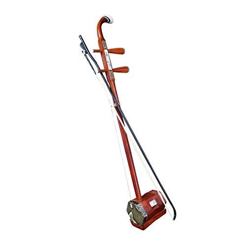 Erhu Musikinstrument Anfänger Huqin Chinesisches Nationales Musikinstrument Redwood Professionelle Erwachsene Kind Geschenke Für Freunde Und Familie (Color : Brown)