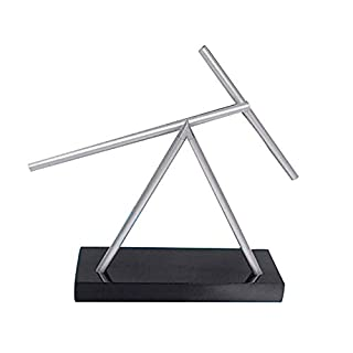 JOEPET Swinging Sticks, Kinetic Energy Sculpture Desktop Perpetual Motion, Dekoration Newton Pendel für Heimbüro und Büro-Desktop-Dekorationen,ABSplasticbase