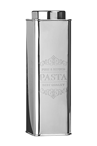 Premier Housewares 0507635 Scatola Metallica per Pasta, Acciaio Inossidabile, Argento