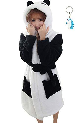 Landove Accappatoio Coppia Uomo Donna Coperta Morbida Flanella Caldo Pigiama con Cappuccio Animali Kimono Vestaglie da Notte...