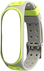 Crysendo Strap for Band 3 & 4 Super Soft Premium Italian Rubber with Metal Buckle (Green &am