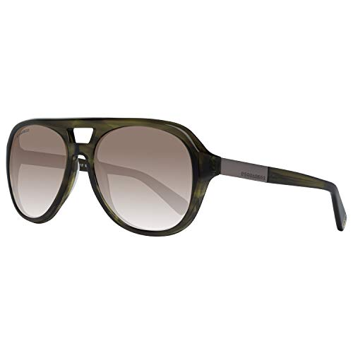 Dsquared2 Unisex-Erwachsene DQ0237 98E 56 Sonnenbrille, Grün (Verde Scuro),