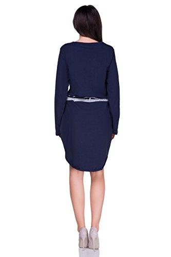 FUTURO FASHION - Robe - Colonne - Manches Longues - Femme rose corail taille unique Bleu Marine