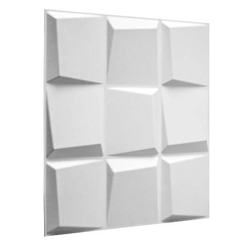 WallArt Wall Decor   Paneles Sostenibles 3D Para Pared/Azulejos Decorativos  3D Para Pared