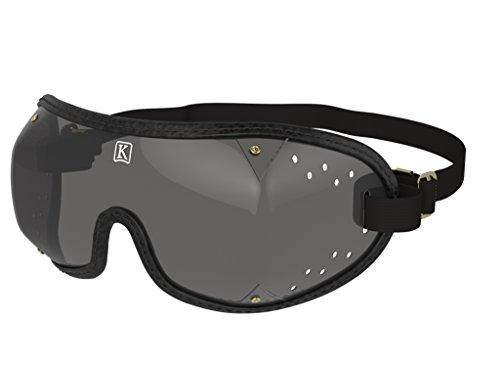 kroops Schutzbrille Stanzteile Vent Brillen komplett mit gratis kroops Schutzbrille Mikrofaser Aufbewahrungstasche, Black Trim