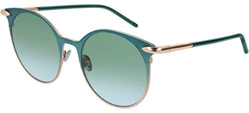 Pomellato occhiali da sole pm0053s green/green shaded 52/19/140 donna