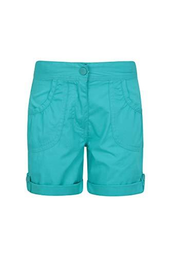 Mountain Warehouse Shore Shorts für Mädchen - Kindershorts aus 100% Baumwolle, Kurze Atmungsaktive Hose, Strand Shorts - Lässige Shorts für Den Sommer & Urlaube Minze 116 (5-6 Jahre)