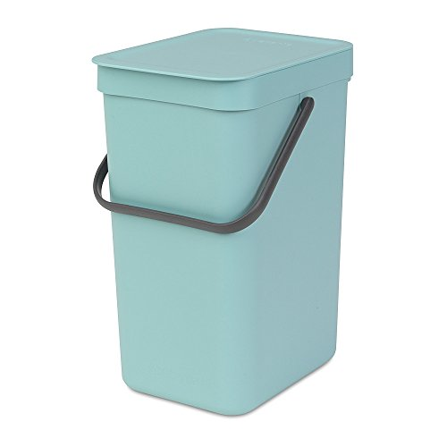 Brabantia Sort & Go Einbaubehälter, Plastik,Minzgrün,16L -