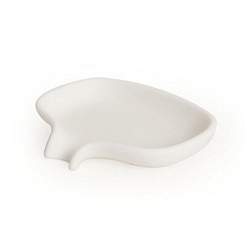 Bosign Soft Seifenschale mit Ablauf, Weiß, Silikon