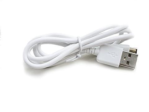 Kingfisher Technologie 90cm USB 5V 2A PC Weiß Ladegerät Power Kabel führen Adapter (22AWG) für Belkin QODE Ultimate Pro iPad Air Tastatur