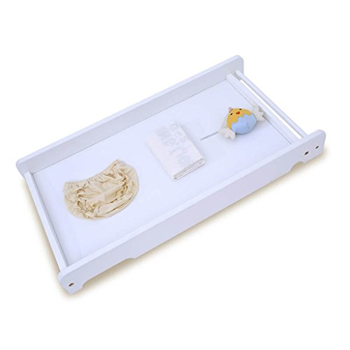 Baby-Wickeltisch/Massivholz-tragbare Baby-Care-Schreibtisch-Bett im Bett-Windel-Tabelle Baby-Touchtisch-Vollenden-Tabellen-hölzerne Farbe 10 Kilogramm-Last (Farbe : Weiß) (Blatt Tabelle Abdeckung)
