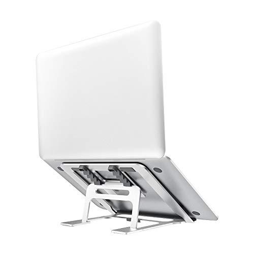 JUMKEET Support Ordinateur Portable, Laptop Stand 5 Niveaux Réglable, Support PC Pliable Ventilé, Stand de Bureau pour MacBook Air Pro, iPad, Tablette Dell, Lenovo, HP, Autres (11-17 Pouce)