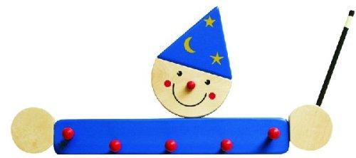 Niermann-Standby 932 - Garderobe Zauberer - Hier hängt der kleine Zauberer seinen Mantel auf. Garderobe aus Holz mit 4 Haken