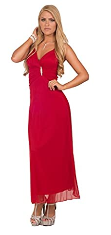 Womens Cocktail Formal Chiffon Ruching V Neck Sleeveless Empire Waist Maxi Dress