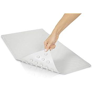 Posh Porschey Blue Canyon Thick White Rubber Extra Grip Long 90cm Suction Non Slip Bath Shower Mat Disability