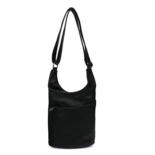 CASAdiNOVA ® Damen Umhängetasche - Schultertasche Schwarz - Damenhandtasche - Handtasche - Crossbody - Messenger Bag - Shopper Tasche - premium Tote