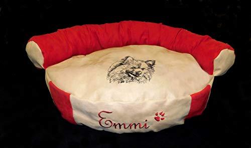 LunaChild Hunde Sofa Hundebett Lounge Hundelounge Pomeranian Spitz Zwergspitz 1 Name Snuggle Bag Größe S M oder L in 14 Farben erhältlich -