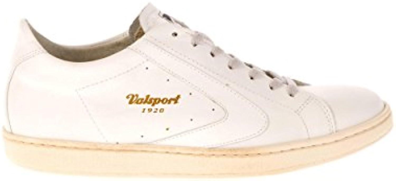 Valsport Sneaker - Zapatillas de Cuero para Hombre Blanco Bianco -