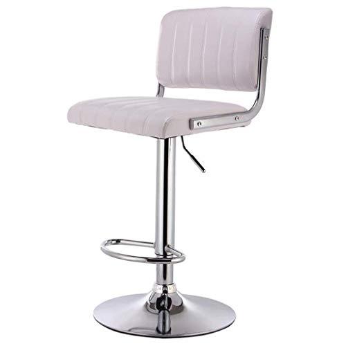 Audivik Barhocker Weiß,Höhenverstellbar Drehbar Stahl Kunstleder Drehhocker Küchenstühle Bürohocker Bürostühle Barhocker Barstühle Barstuhl Tresenhocker -