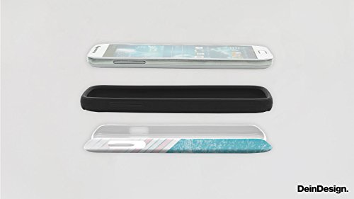 Apple iPhone 4 Housse Étui Silicone Coque Protection Rétro Mur Bandes Cas Tough brillant