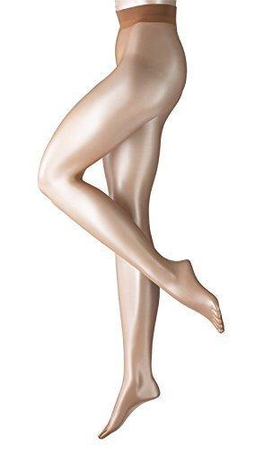 Beige Shimmer Powder (FALKE Damen Strumpfhose Shelina 12 den sun (4299) S-M)