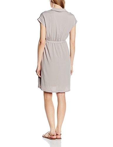 MAMALICIOUS Damen Umstandskleid Mlchloe Ss Tess Woven Dress Nf Grau (Ash)