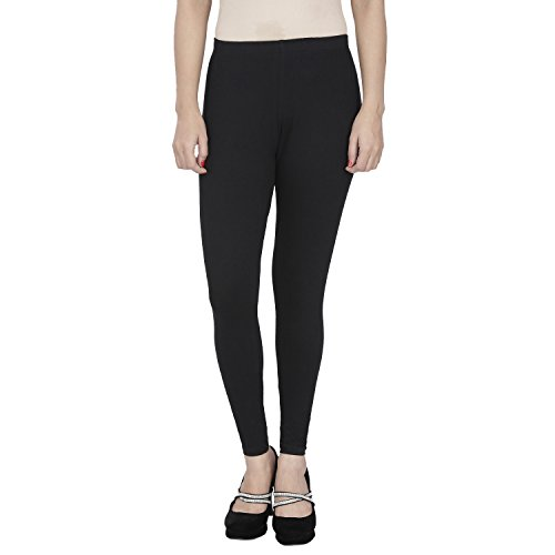 Anekaant Girl's Blended Leggings (ADAL108__Black_Free Size)