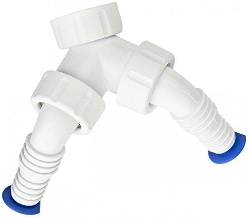 PP - Doppeltülle für Siphon Geräteanschluss Weiche 1' Zoll