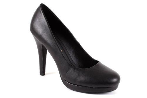 Andres Machado.AM554 Peep Toes, Pumps, Lackschuhe, für Damen, Schwarz - Black Soft - Größe: 43 EU