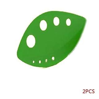 Rekkles 2 Pcs LooseLeaf Herd Holes Stripper Green ABS Chefn Kale Chard Collard Greens Stem Remover Kitchen
