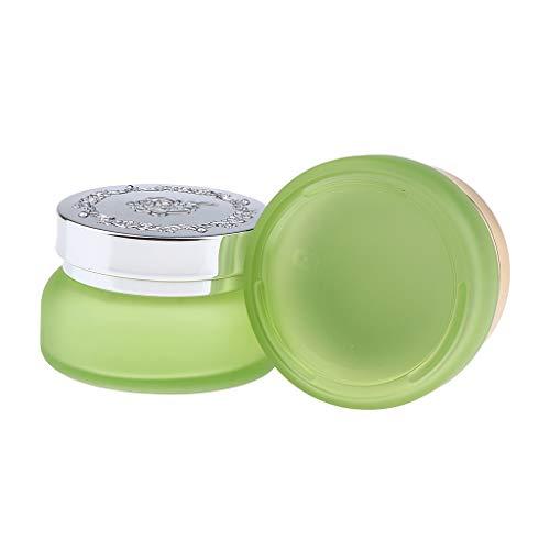 B Blesiya 2 Stück Multifunktionale Kosmetikbehälter Reise Töpfchen Döschen Set mit Deckel für Cremes Lotion Muster Makeup Lagerung - 30g hellgrün