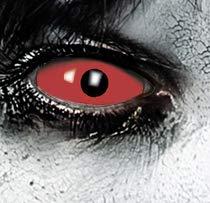KOH-Funlinsen Devil RED Sclera-Markenqualität- 1 PAAR-D-22mm-rot Linsen,Cosplay, Larp, Zombie, Kontaktlinsen, Crazy Funlinsen, Halloween, Fastnacht,Vampir (Zombie Halloween-make-up Unheimlich)
