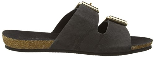 New Look - Footbed Double Buckle, Sandali Donna Nero (Black (01/Black))