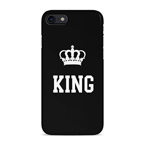 King Crown Matching Couple King And Queen Gift For Boyfreind And Girlfriend Schutzhülle aus Hartplastik Handy Hülle für iPhone 7 / iPhone 8 Case Hard Cover