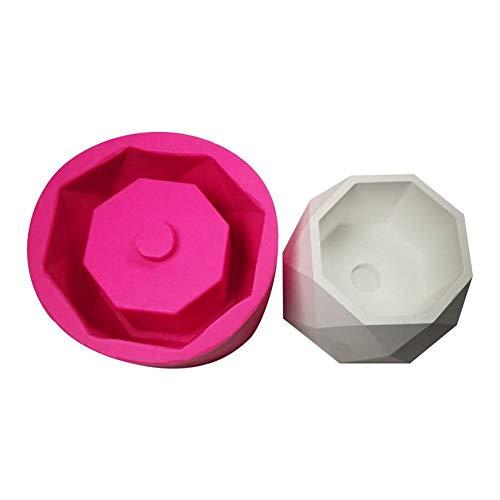 Prom-near DIY Silikon Blumentopf Form Guss Beton Cup Form Hand Made Keramik Ton Craft Flasche Formen Werkzeug - Ton Formen