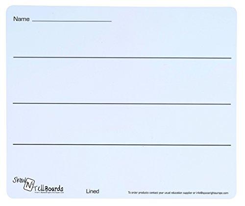 Spaceright Europe 990303L/100 Show'N'Tell - Pizarra de Ordenador portátil Flexible con 3 líneas (100 Unidades)