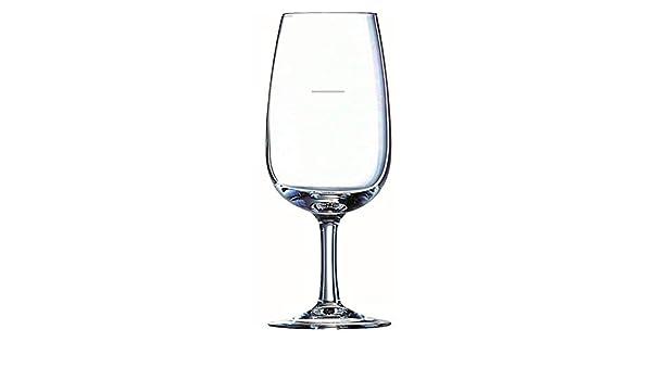 Visiodirect Lot de 6 Verres à vin 21,5 cl viticole jaugé à